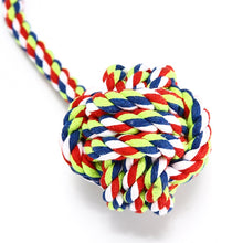 Load image into Gallery viewer, Dog rope ball toy