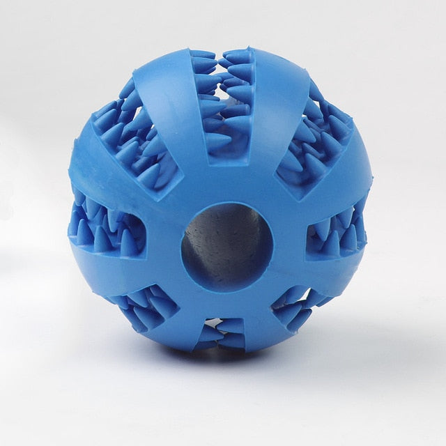 Dog Toy Rubber Ball Treat Dispenser