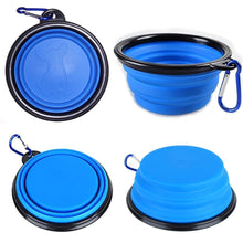 Load image into Gallery viewer, Travel Collapsible Silicone Pet Bowl