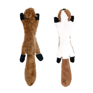 No Stuffing Dog Squeaker Toy