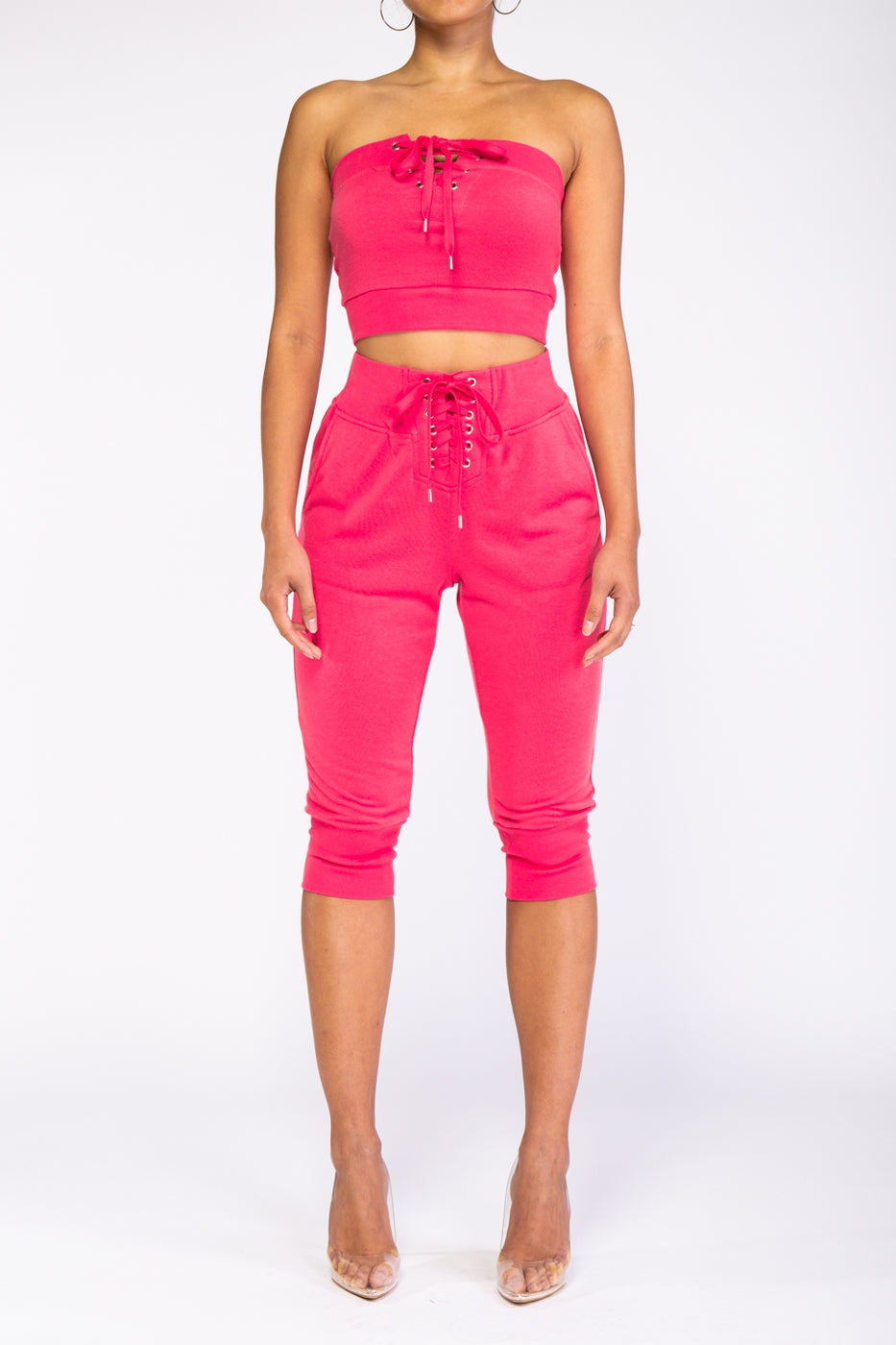 Pink Icon Set - Pants, Sets, Top - Labeled-Couture - Labeled- Couture