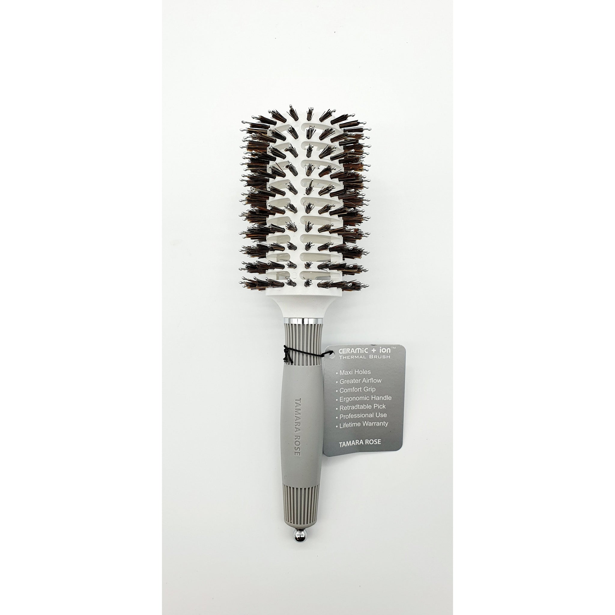 Tamara Rose Ceramic+Ion Thermal Brush Brush Large (White) - WAHairSuppliers
