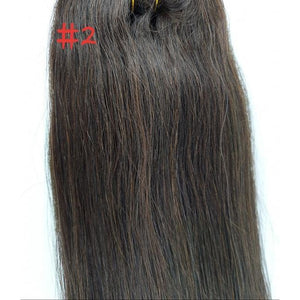 Clip-in European Quality Human Hair extensions Dark Brown 22inch - WAHairSuppliers