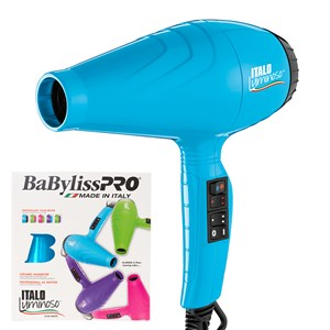 BaBylissPRO Italo Luminoso Hair Dryer Blue - WAHairSuppliers