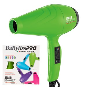 BaBylissPRO Italo Luminoso Hair Dryer Green - WAHairSuppliers