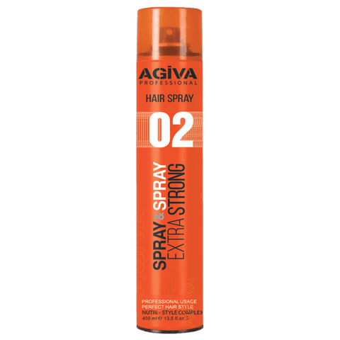 Agiva Hair Spray 02 Extra Strong 400ml - WAHairSuppliers