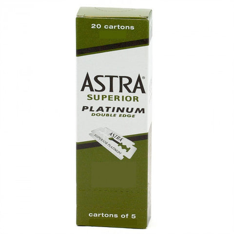 Astra Blades Platinum Green Pillar 100 pack - WAHairSuppliers