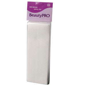 BeautyPRO Non-Woven Large Wax Strips, 100pk - WAHairSuppliers