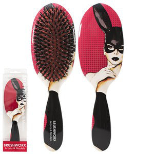 Brushworx Artists and Models Cushion Hair Brush Bunny Boo