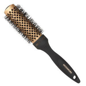 Brushworx Gold Ceramic Hot Tube Hair Brush, Medium - WAHairSuppliers