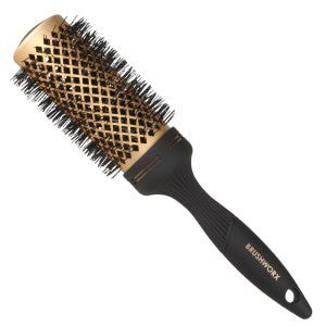 Brushworx Gold Ceramic Hot Tube Hair Brush, Extra Large - WAHairSuppliers