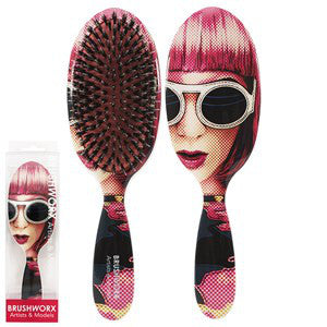 Brushworx Artists and Models Cushion Hair Brush Lady Ra Ra