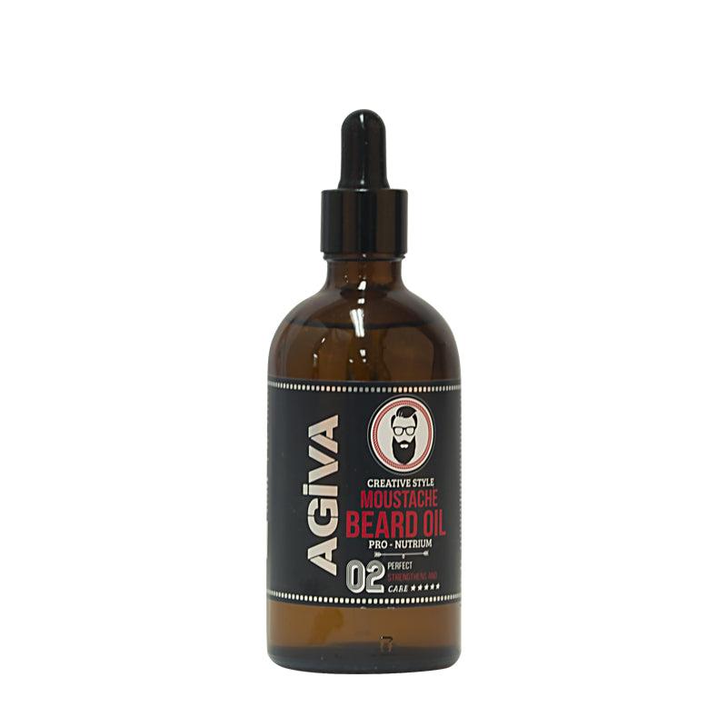 Agiva Moustache and Beard Oil 100ml - WAHairSuppliers