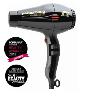Parlux 3800 Ionic and Ceramic Hair Dryer - Black - WAHairSuppliers