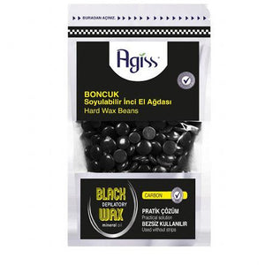Agiss Hard Wax Beads Carbon 220g - WAHairSuppliers