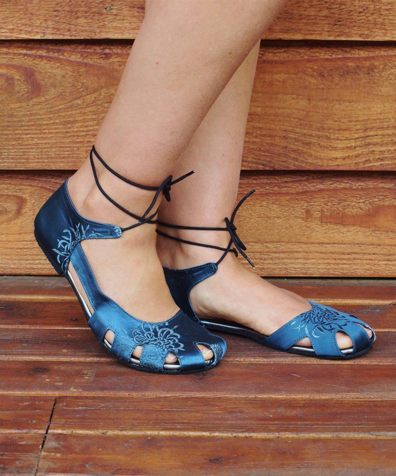 Silk Sapa Flat Shoes