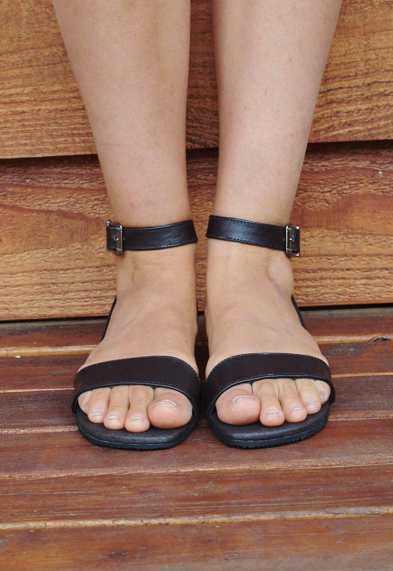 Around The Ankle Leather Sandals