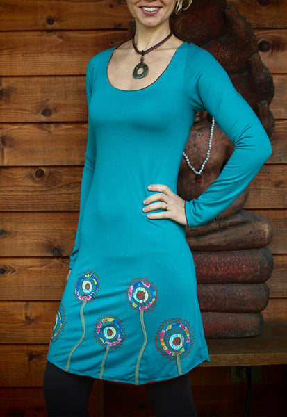 Azure Applique Dress