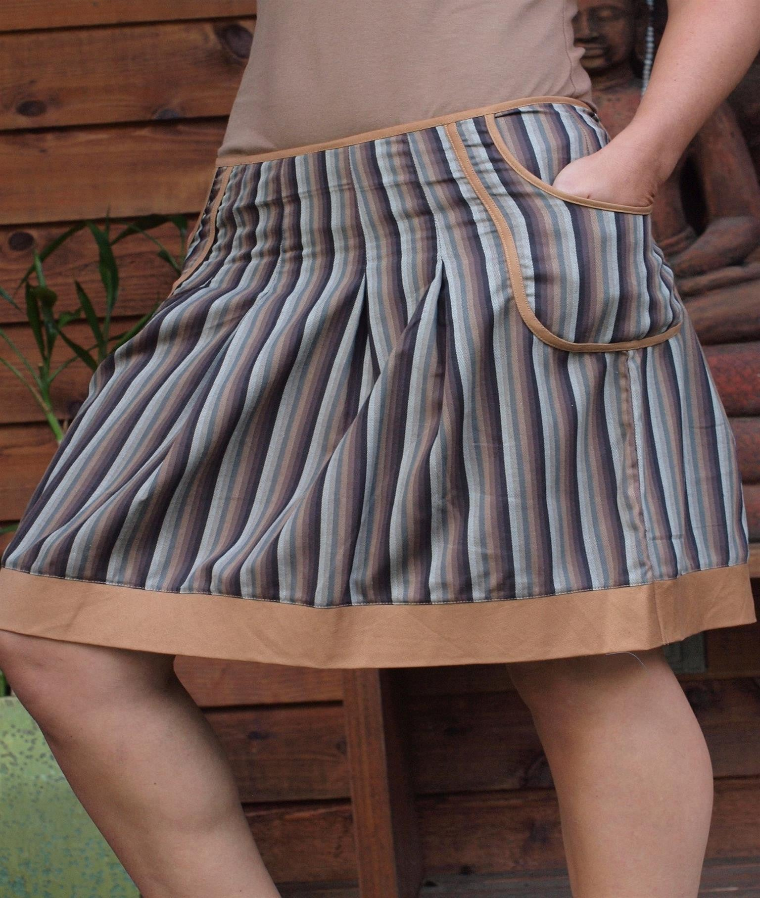 Pockets And Plaids Skirt