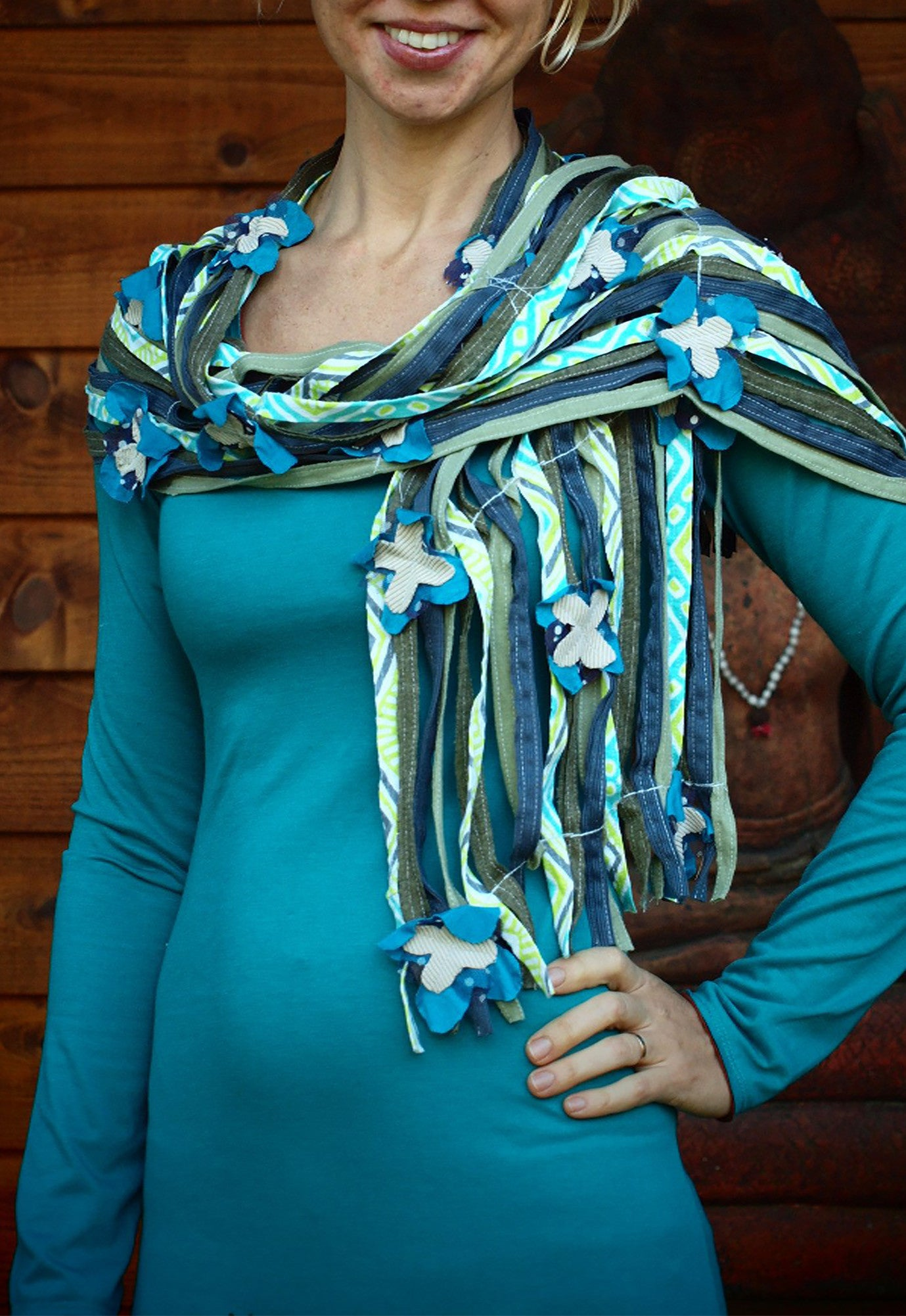 Flowers and Vines Scarf Skinny