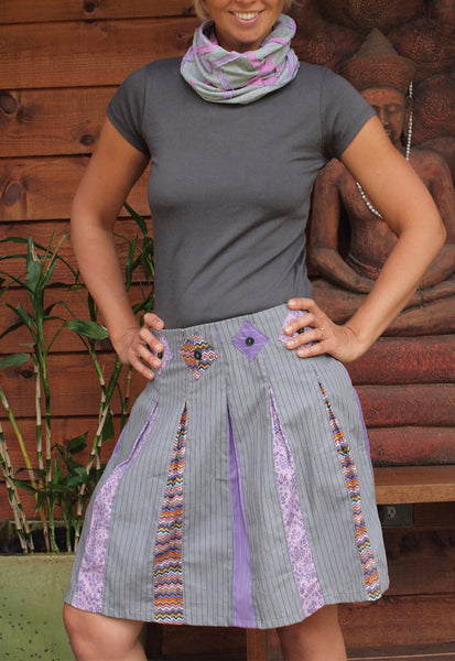 Flowers and Pleats Skirt
