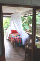 mosquito net, Air BnB, Bed and Breakfast, cotton mosquito net, bed net, cotton mosquito net byron bay, insect protection