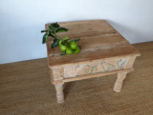 coffee table, timber furniture, teak table, side table, small side table, small timber table, carved timber table