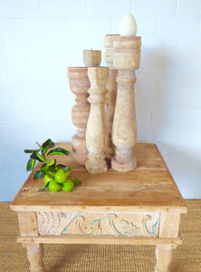 Candlesticks, wood candlesticks, teak wood candlesticks,wood turned candlesticks