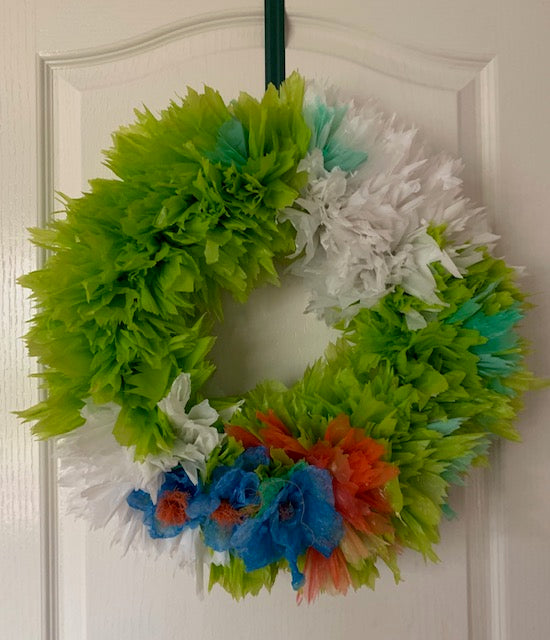 Large Wreath with Flowers