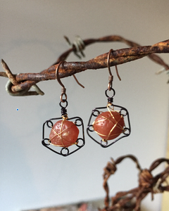 Small Agate Earrings