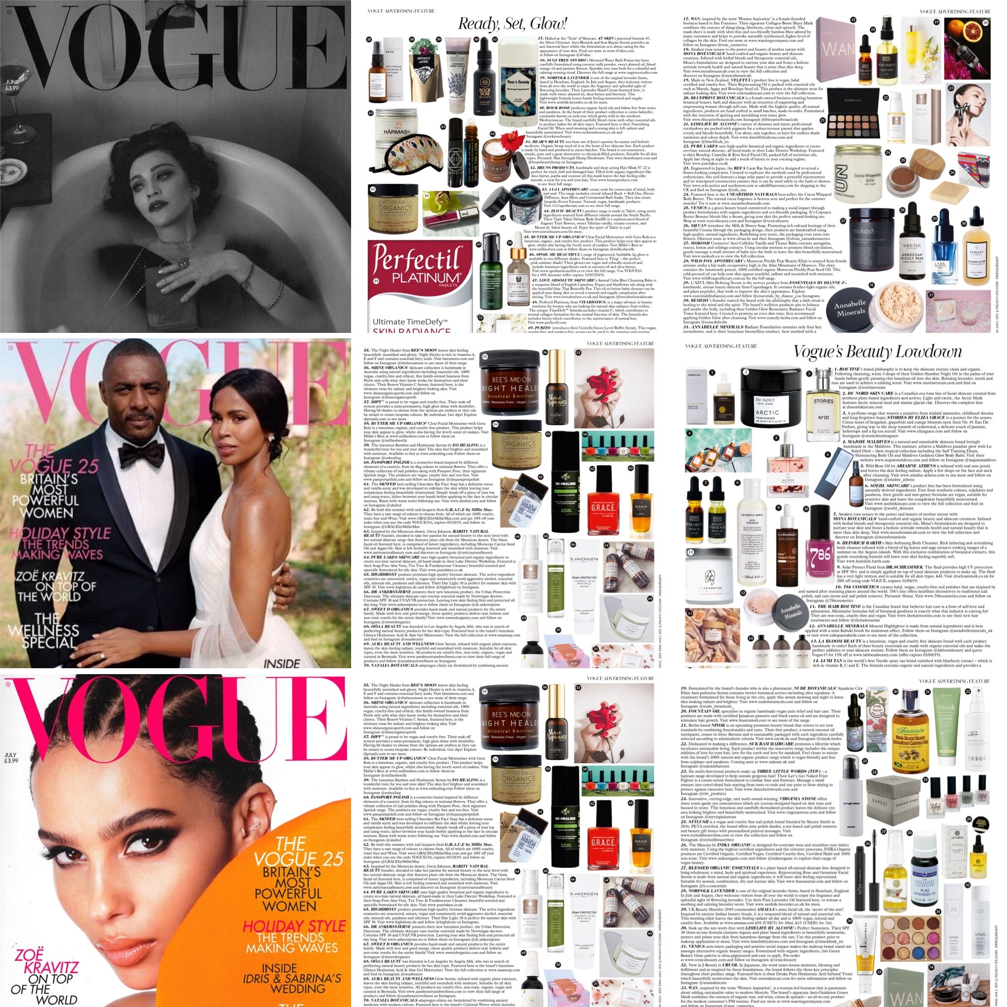 As Seen in VOGUE, Millie's Best was featured in various issues of the UK publication of VOGUE magazine with our Butter Me Up Clear Face Facial Moisturizer with Gotu Kola. 😀
