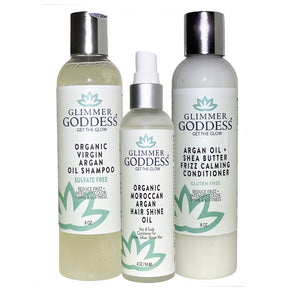 Organic Argan Oil Shampoo + Conditioner + Hair Shine Spray