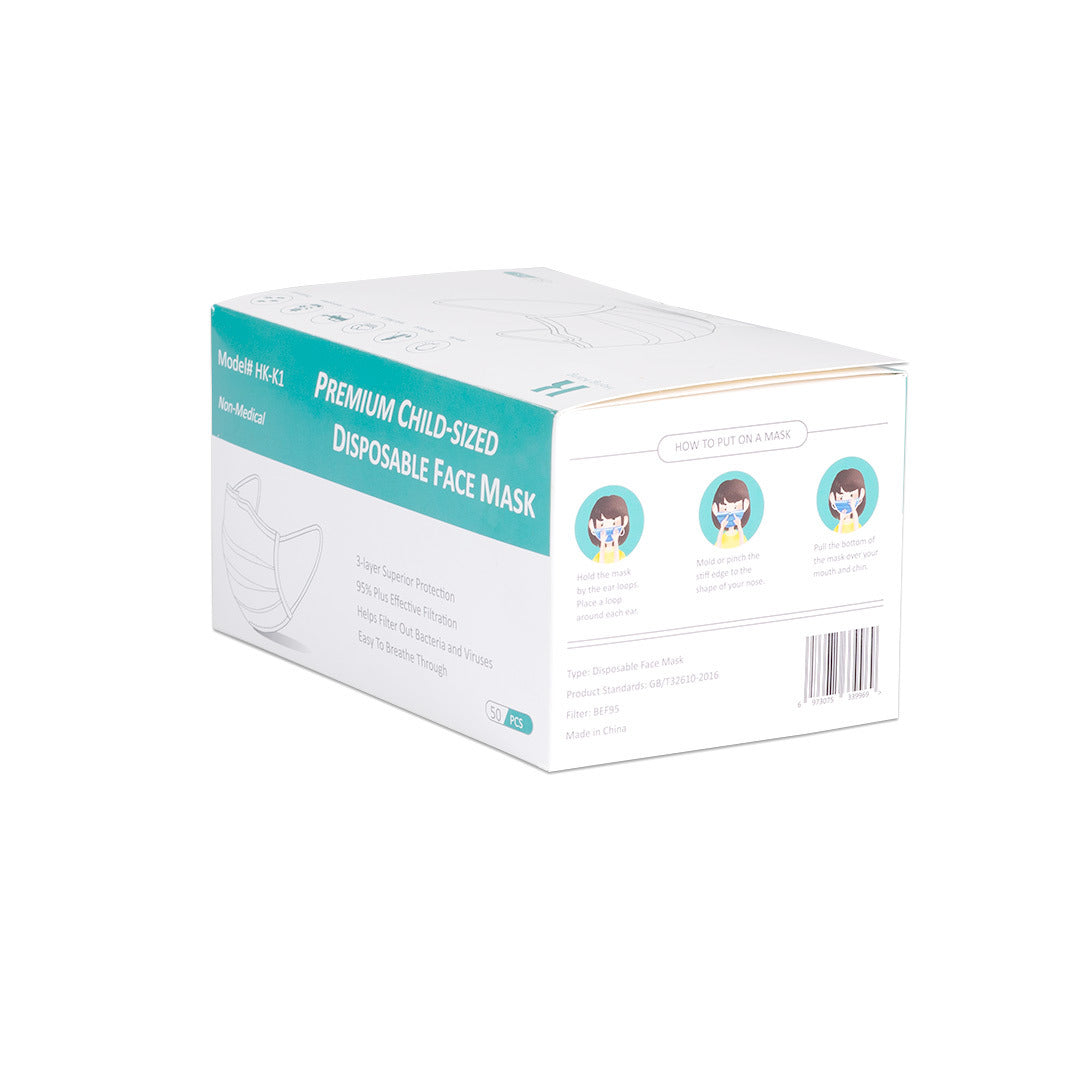 Kids 3 ply disposable mask- 50 count