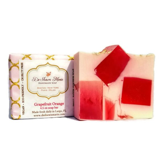 Grapefruit Orange Soap Handmade Soap Vegan Soap