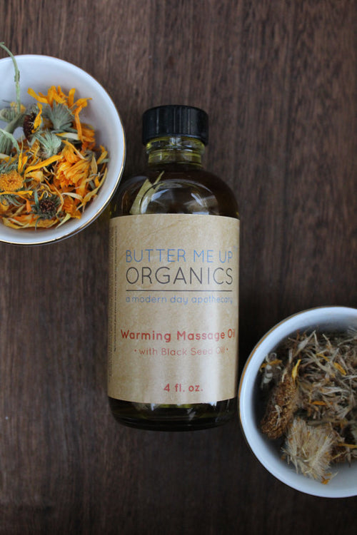 Organic Warming Massage Oil Muscle Ache Reliever