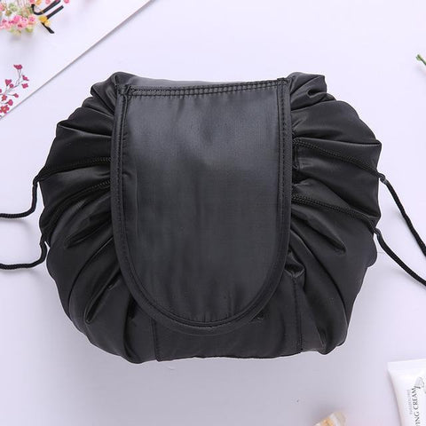 Image of DRAWSTRING COSMETIC BAG FASHION TRAVEL MAKEUP BAG ORGANIZER MAKE UP CASE STORAGE POUCH
