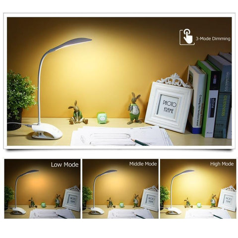 Image of 14 LED Table lamp with Clip Bed, Light LED Desk lamp, Desk Lamp
