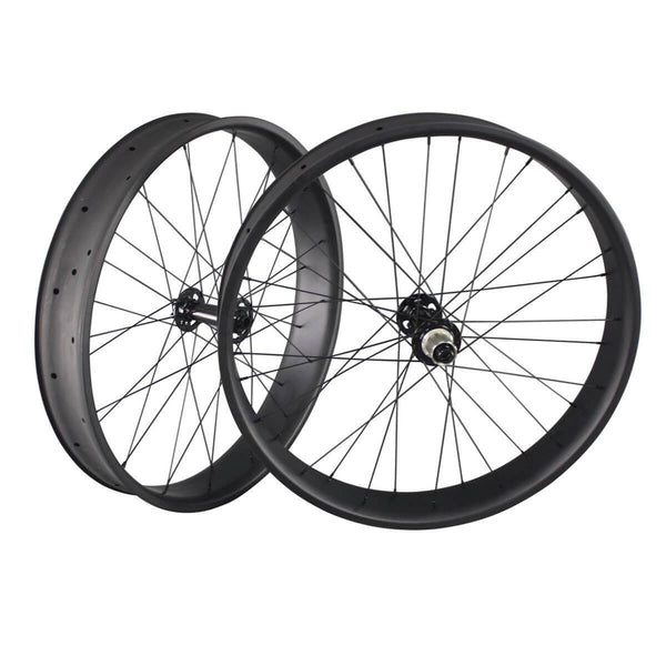 ICAN Wheels & Wheelsets Front 150mm/Rear 190mm / Shimano 10/11 Speed / Black 26er Carbon Fatbike Wheelset 90mm