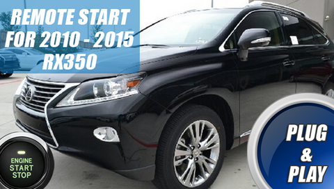 2010 -2015 LEXUS RX350 Remote Start Kit Plug & Play