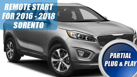 2016 - 2018 Kia Sorento Remote Start Kit