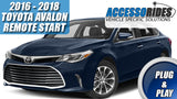 2016 - 2018 Toyota Avalon Remote Start Plug & Play