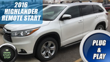 2016 Highlander Remote Start Plug & Play