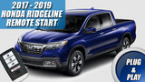 2017 - 2019 Honda Ridgeline Remote Start Plug & Play