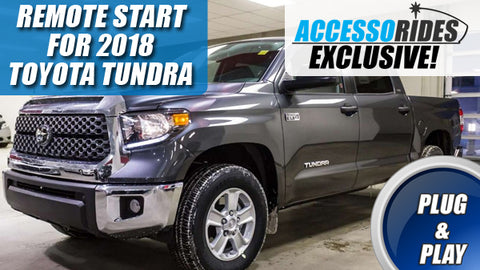 2018 Toyota Tundra Remote Start Plug & Play