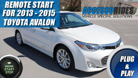 2013 - 2015 Toyota Avalon Remote Start PTS