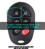 Toyota 4Runner OEM keyfob 3x lock start