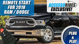 Dodge Ram Key Start Remote Start 2018 - 2019