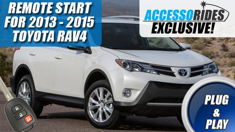 2013 2014 2015 Toyota RAV4 Remote Start Plug & Play