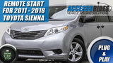 2011 - 2018 Toyota Sienna Remote Start Plug & Play