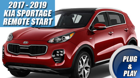 Kia Sportage Remote Start for 2017 - 2019 Key Start Only
